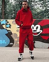 Спортивний костюм оверсайз Огонь Пушка Scale 2.0 червоний, фото 1