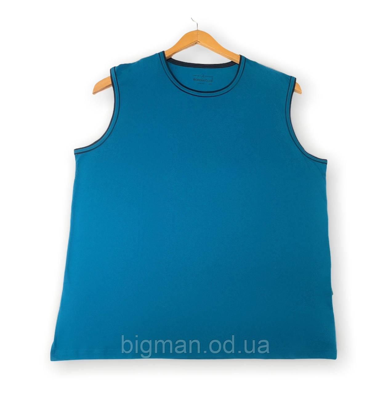 Чоловіча майка синя однотонна батал (великі розміри 6XL) Borcan Club виробництво: Туреччина