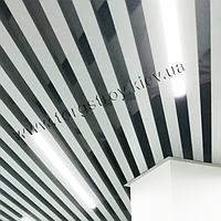 Кубообразный реечный подвесной потолок (Комплект), рейка 50х50мм, шаг 50мм, цвет белый RAL 9003 (9010, 9016)
