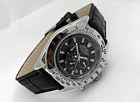 Мужские часы Rolex Daytona серебристые с черным циферблатом