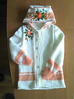 Курточка детская вязанная