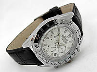 Мужские часы Rolex Daytona серебристые с белым циферблатом