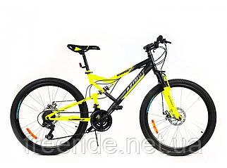 Подростковый двухподвесный велосипед Azimut Scorpion 24 G-FR/D (17) черно-желтый