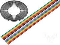 Шлейф FLCC-16/30 -BQ Cable (кабель ленточный многоцветный с шагом 1,27; 16 жил)