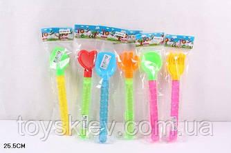 Мильні бульбашки 2058-105 (288шт|4)-меч,в пакеті 25,5 см, MIX 6 видів