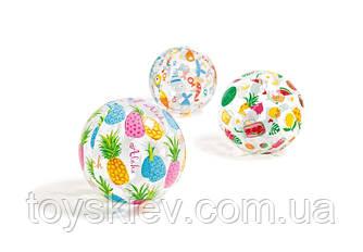М'яч надувн. 59040 (36шт) квітковими., квадр., зірки (3+ років) 51см