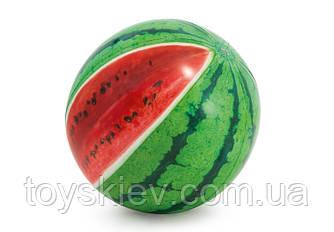 """М'яч надувний 58075 (12шт) """"Кавун"""" кольор. від 3 років 107см"""