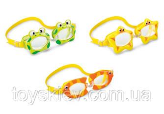Очки 55603 (12шт) гипоал, поливинил, забавная форма очков, 3 цвета, (3-10лет) 15*20*4см