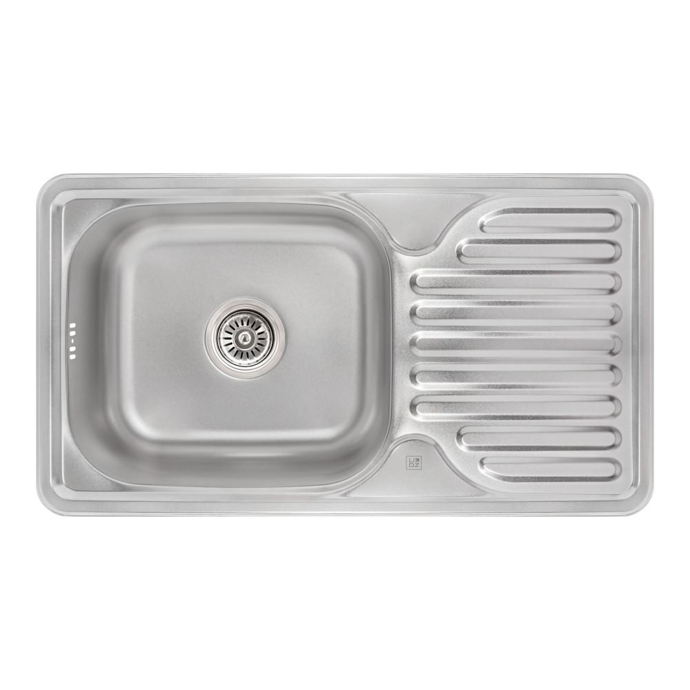 Кухонная мойка Lidz 7642 0,8 мм Micro Decor (LIDZ764208MICDEC)