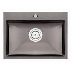 Кухонна мийка Qtap D5843BL Black 2.7/1.0 мм (QTD5843BLPVD10)
