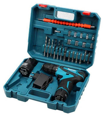 Аккумуляторный шуруповерт DF330DWE с набором инструментов 12 v C-J Set 184732
