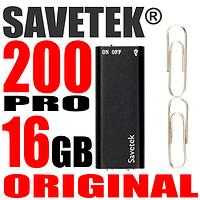 Мини диктофон с активацией голосом Savetek 200, 16 Гб, MP3, VOX, 12 часов записи