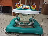 Детские музыкальные ходунки - качалка 5в1 Carrello Tesoro CRL-12703 Azure бирюзовые, фото 7