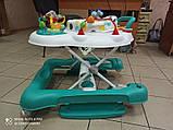 Детские музыкальные ходунки - качалка 5в1 Carrello Tesoro CRL-12703 Azure бирюзовые, фото 8