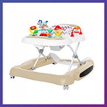 Дитячі ходунки музичні - качалка 5в1 Carrello Tesoro CRL-12703 Beige бежеві