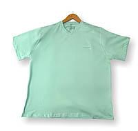 Мужская однотонная футболка бирюзовая батал (большие размеры 3XL 4XL 5XL 6XL) Borcan Club производство: Турция, фото 1