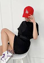 """Жіноча кепка зі стразами """"LA"""""""
