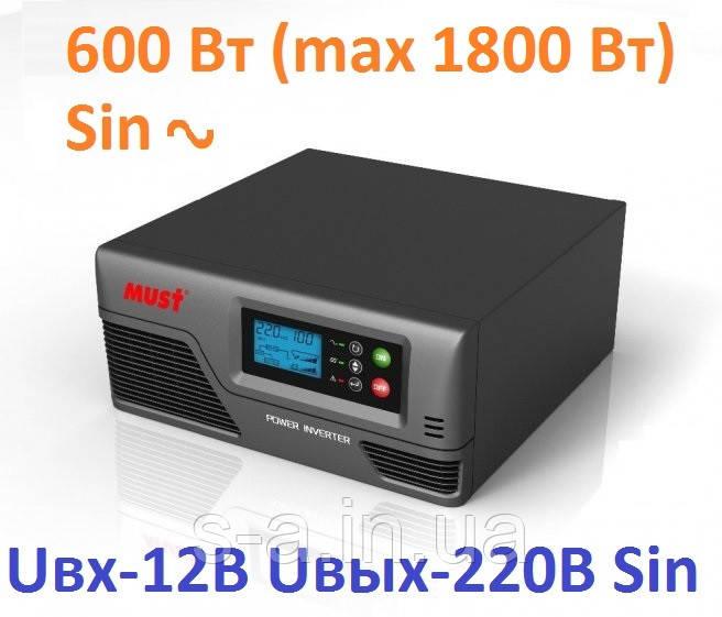Інвертор MUST EP20-600 PRO 600W/12V з правильною синусоїда