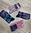 Жіночі демісезонні шкарпетки асорті з квітковим принтом бавовна високі 12 шт в уп, фото 4