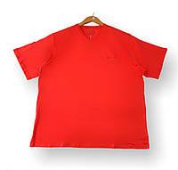 Мужская однотонная футболка коралловая батал (большие размеры 3XL 4XL 5XL 6XL)Borcan Club производство: Турция, фото 1