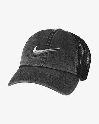 Кепка мужская Nike Sportswear Heritage 86 Swoosh DC4022-010 Черный, фото 2