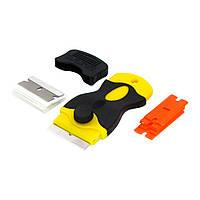 Нож-скребок с запасными лезвиями FLS-011, для снятия остатков клея, ОСА и поляризационной плёнки