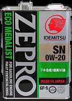 Моторне масло Idemitsu Zepro Eco Medalist 0W-20 4л