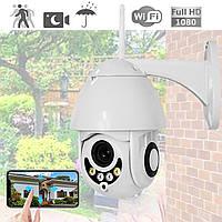 Уличная IP Wi-Fi камера видеонаблюдения Visio 1080p с ночной съемкой и датчиком движения влагозащита IP66