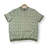 Мужская футболка на резинке зеленая батальная (большие размеры 4XL 5XL) Grand la Vita, Турция, фото 1