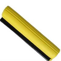 Насадка-губка для швабры с отжимом желтая из целлюлозы 28 см