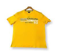 Мужская футболка желтая батальная (большие размеры 4XL 5XL 6XL 7XL) Grand la Vita, Турция, фото 1