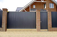 Ворота откатные, зашивка профнастил - вертикальное исполнение, фото 4