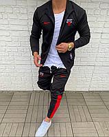 Мужской спортивный костюм черный Nike баскетбольный клуб Chicago Bulls
