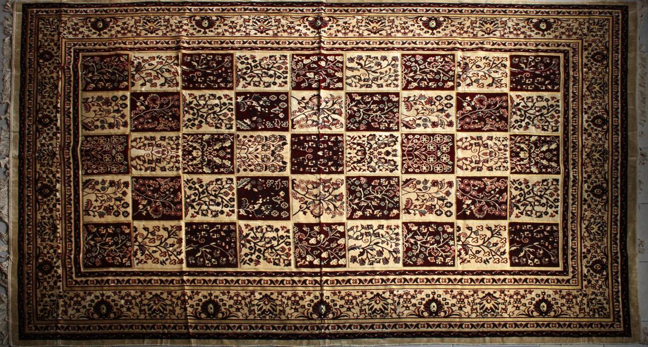 Покрывало ковровое (дивандек) Цветочные квадраты 200*300