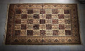 Покрывало ковровое (дивандек) Цветочные квадраты 200*300, фото 2