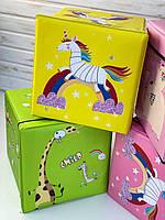 Пуфик-короб, Пуф детский, корзина для игрушек С 44806, в кульке
