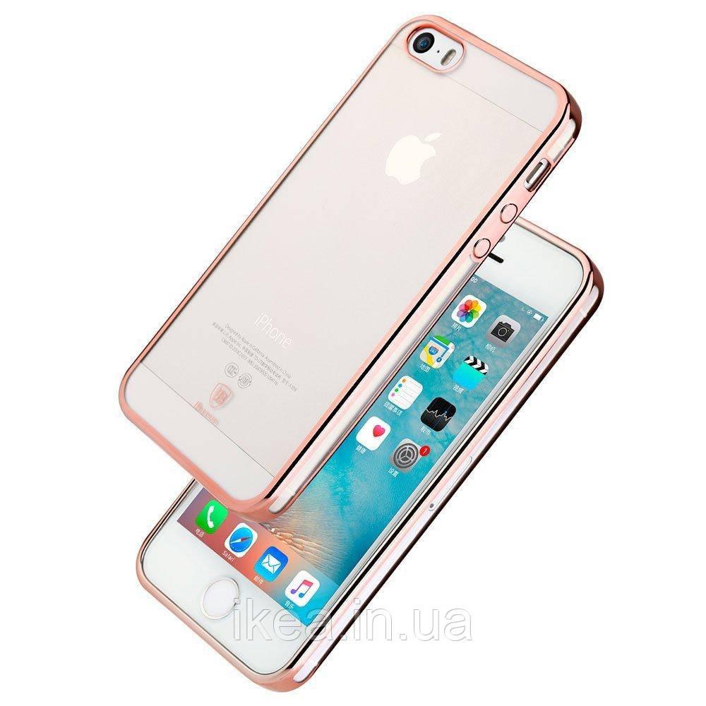 Чохол Baseus shining рожевий для iPhone 5/5S/SE