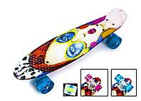 """Скейтборд, Скейт Penny Board 22 """"Cool Girl"""" Светящиеся колеса"""