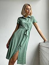 Женское платье « Софт горох» Размер - 42-44; 44-46 Цвет - чёрный, красный, оливка, лило
