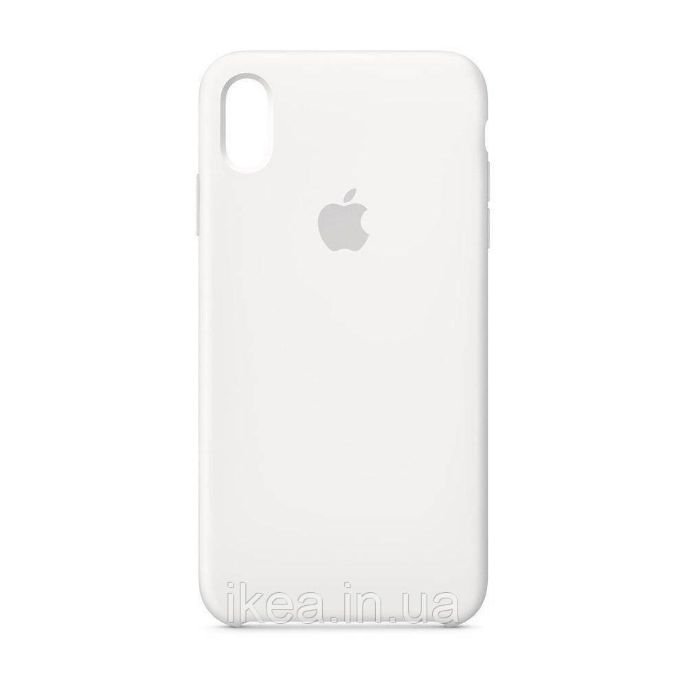 Силиконовый чехол белый для iPhone XR
