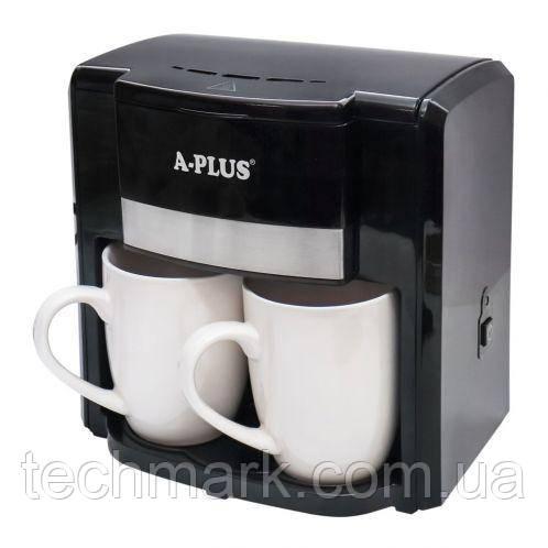 Кавоварка крапельна A-PLUS 500 Ватт + 2 чашки 1549