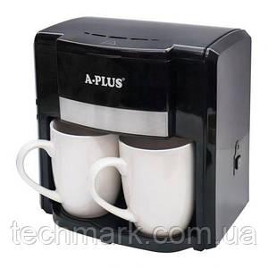 Кофеварка капельная A-PLUS 500 Ватт + 2 чашки 1549