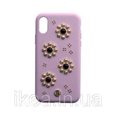 Чехол с рисунком Luna Aristo Orbita Coral розовый для iPhone X/XS