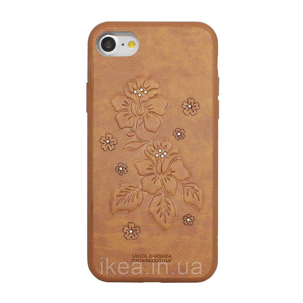 Шкіряний чохол Polo Azalea коричневий для iPhone 7 Plus/8 Plus