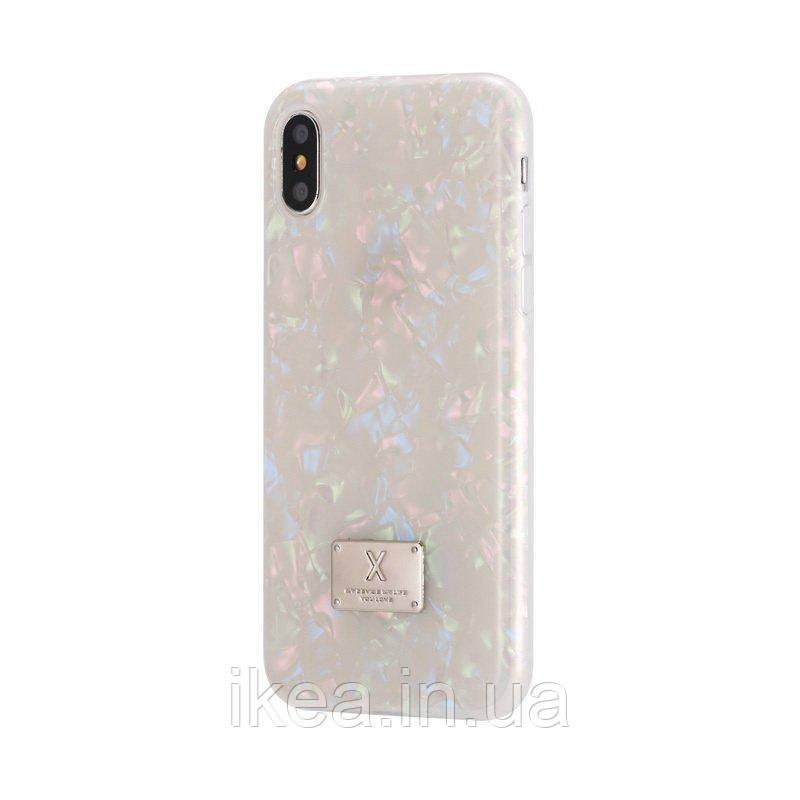 Блискучий чохол WK Shell різнобарвний для iPhone X