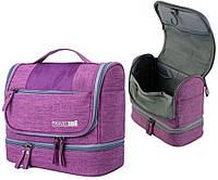 Дорожный органайзер косметичка TRAVEL BAG подвесной раскладной 24 х 20 х 12 см Фиолетовый