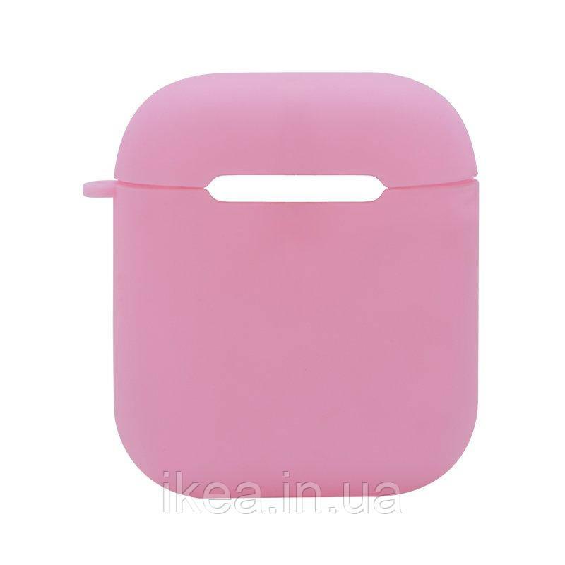 Силиконовый чехол Coteetci розовый для Apple AirPods