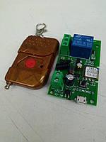 Sonoff Wi-Fi реле + ПУЛЬТ 433мГц модуль 5В - 32В (micro USB + клеммы) сухие контакты.  Ewelink