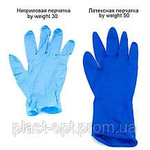 Оглядові рукавички нестерильні AMBULANCE PF (High Risk) M 25пар / уп, фото 2