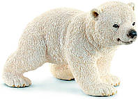Schleich 14708 Фигурка Полярный медвежонок на прогулке Walking Polar Bear Cub Toy Figure